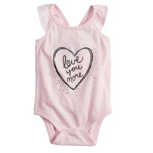 NWT Love You More Bodysuit, Size 9 months
